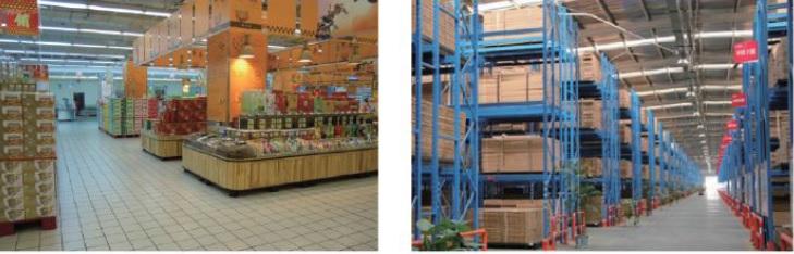 Supermarkt und Lager